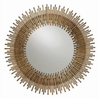 Arteriors Home Prescott Round Antiqued Gold Leaf Iron Mirror - Arteriors Home 2134