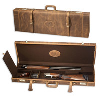 Browning Crazy Horse Distressed Leather Fitted Gun Case