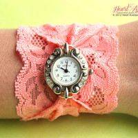 Coral Stretch Lace Watch