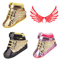 Infant Toddler Baby Boy Girl Wing Crib Shoes Sneakers Size Newborn to 18 Months