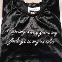 SWEET LORD O'MIGHTY! RUNNING IS MY CARDIO IN BLACK