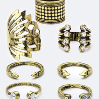 Bronze Mixed Accent Ring Set