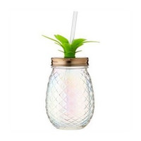 Slant Collections - 16 oz Glass Pineapple Sipper