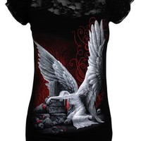 Spiral Tears of an Angel Lace Viscose Top - Buy Online at Grindstore.com
