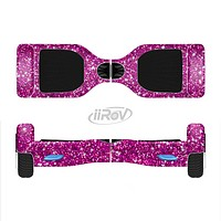 The Bright Pink Glitter Full-Body Skin Set for the Smart Drifting SuperCharged iiRov HoverBoard