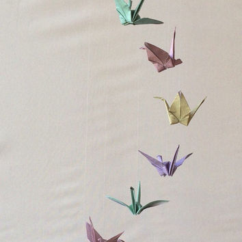 Children Decor Origami Crane Mobile - Baby Mobile - Art Mobile ... | 354x354