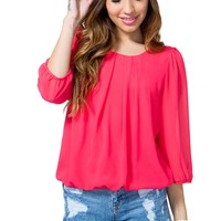 Bubble Pleat Blouse