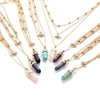 Eye of Protection Crystal Necklace