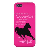 A Horse is a Girl's Best Friend Hot PINK IPHONE from Zazzle.com