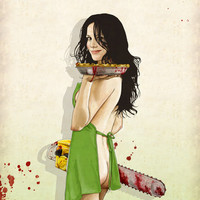 Slaughterhouse Starlets: Mary-Louise Art Print by Keith P. Rein