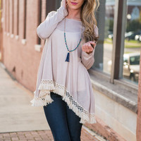 Just As Free Top, Taupe