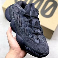 Adidas Yeezy Boost 500 Desert Rat Trending Women Men Casual Running Sport Shoes Sneakers Black I/A