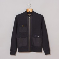 Barbour Carp Zip Through (Navy) | Oi Polloi