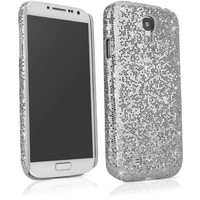 BoxWave Glamour & Glitz Galaxy S4 (S IV, SIV) Case - Slim Snap-On Galaxy S4 Glitter Case, Fun Colorful Sparkle Case for your Galaxy S4 (Silver Sparkles)
