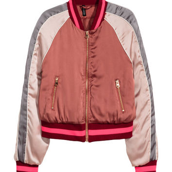 Satin Bomber Jacket - from H&M