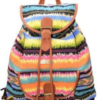 Colorful Casual Canvas Backpack for Girls Ladies