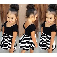 Girls clothing set children's dress girls T-shirt + dress set children suits baby clothes