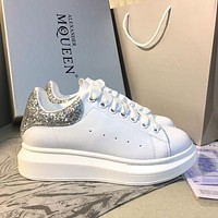 Alexander McQueen Classic white shoes-14