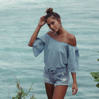 BLUES BABY CHAMBRAY TOP