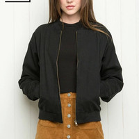 Women Spring Boy Friend Aviator Jacket Coat Fashion Army Green Black Women Slim Bomber Jacket Long Sleeve Basic Coats Outerwear