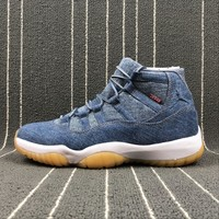 [Free Shipping ] Air Jordan 11 Retro Levis Nrg Basketball Sneaker