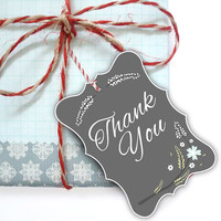 Illustrated Flower - Thank you Tag (Printable)