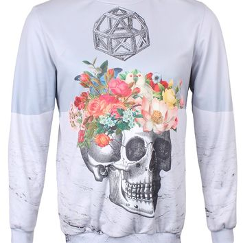 Mr.Gugu & Miss Go Skull & Flowers Sweatshirt