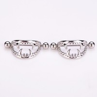 2 pcs The Vampire Surgical Steel Nipple Ring Shields Bar Navel Ring Body Piercing Women Jewelry Gifts Body jewelry