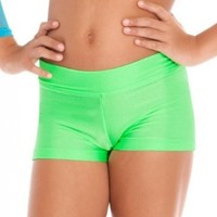 Child Dance Shorts With Banded Waist,N8592C