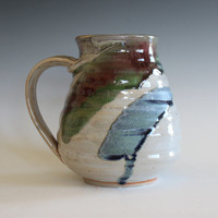 LARGE Coffee Mug, 26 oz,handmade ceramic cup, tea cup, coffee cup, handthrown ceramic stoneware pottery mug, unique coffee mug