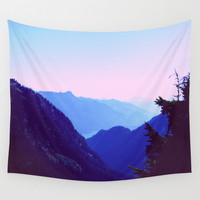 Blue Mountains Wall Tapestry by Lena Photo Art