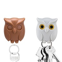 2018 Hot sale Practical Owl Key Holder Wall Mounted Magnetic Key Holder Home Decor Creative personality