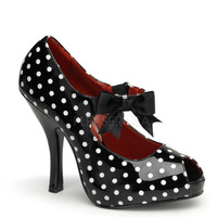 Pinup Couture Cutiepie Polka Dot Open Toe Platforms