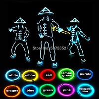 Chinese Style Cosplay Costume Led Lighting Soldier Costume Stage Performance EL Costume DIY Costume