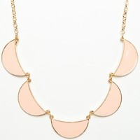 Linked Crescent Necklace in Peach - ShopSosie.com