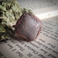 Thulite Square Ring - Size 6