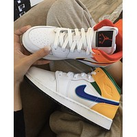 Nike Air Jordan 1 Mid Mid-Class Classic Retro Cultural Casual Sports Basketball Shoes