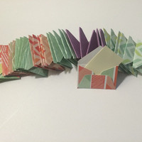 """Mini patterned (chevron, polka dots, or stripes) envelopes with tiny note cards 1x1.5"""""""
