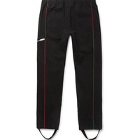 Alexander McQueen - Tapered Contrast-Piped Stretch-Cotton Jersey Sweatpants