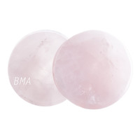 Rose Quartz Stone Plugs Slight Convex (3mm-25mm)