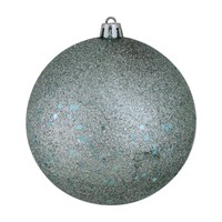 """Baby Blue Holographic Glitter Shatterproof Christmas Ball Ornaments 4"""" (100mm)"""