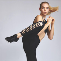 Yoga Summer Quick Dry Fitness Workout Hollow Out Sports Jogging Pants [9143586948]
