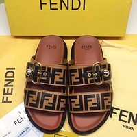 Fendi Fashion Shoes Women Men sandals slippers