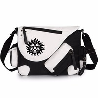WISHOT  Supernatural SPN  Shoulder Bag Messenger Bag  teenagers Men women's Student travel School Bag Laptop Bags