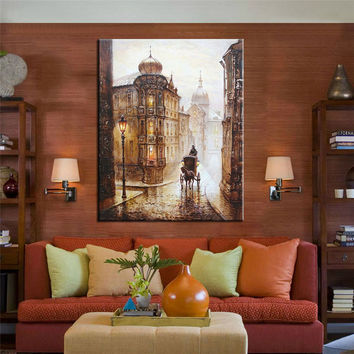 Oil Painting Home Decoration Coloring By Number 40x50cm Carriage Love Wall Pictures for Living Room Quadros De Parede Sala Estar