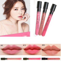 New coming waterproof  liquid matte lipstick  Moisturize lip gloss easy to wear for lip makeup long lasting with different color