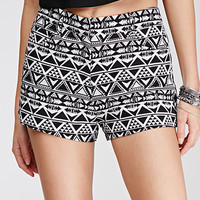 Southwestern-Patterned Brocade Shorts