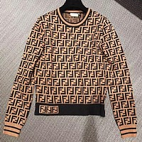 Fendi Autumn And Winter Fashion New More Letter Print Women Long Sleeve Sweater