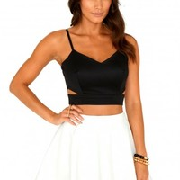 Missguided - Helena Cut Out Strappy Bralet Top In Black
