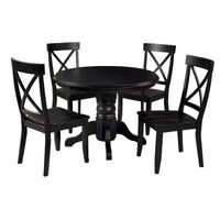 Home Styles Dining Set in Black (5-Piece)-5178-318 at The Home Depot